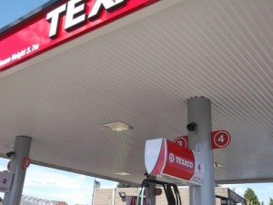 Rebranded Texaco canopy complete with new underlining
